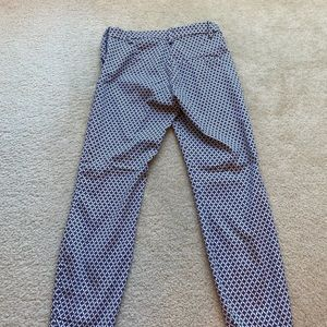 Professional white, blue and black H&M ankle pants